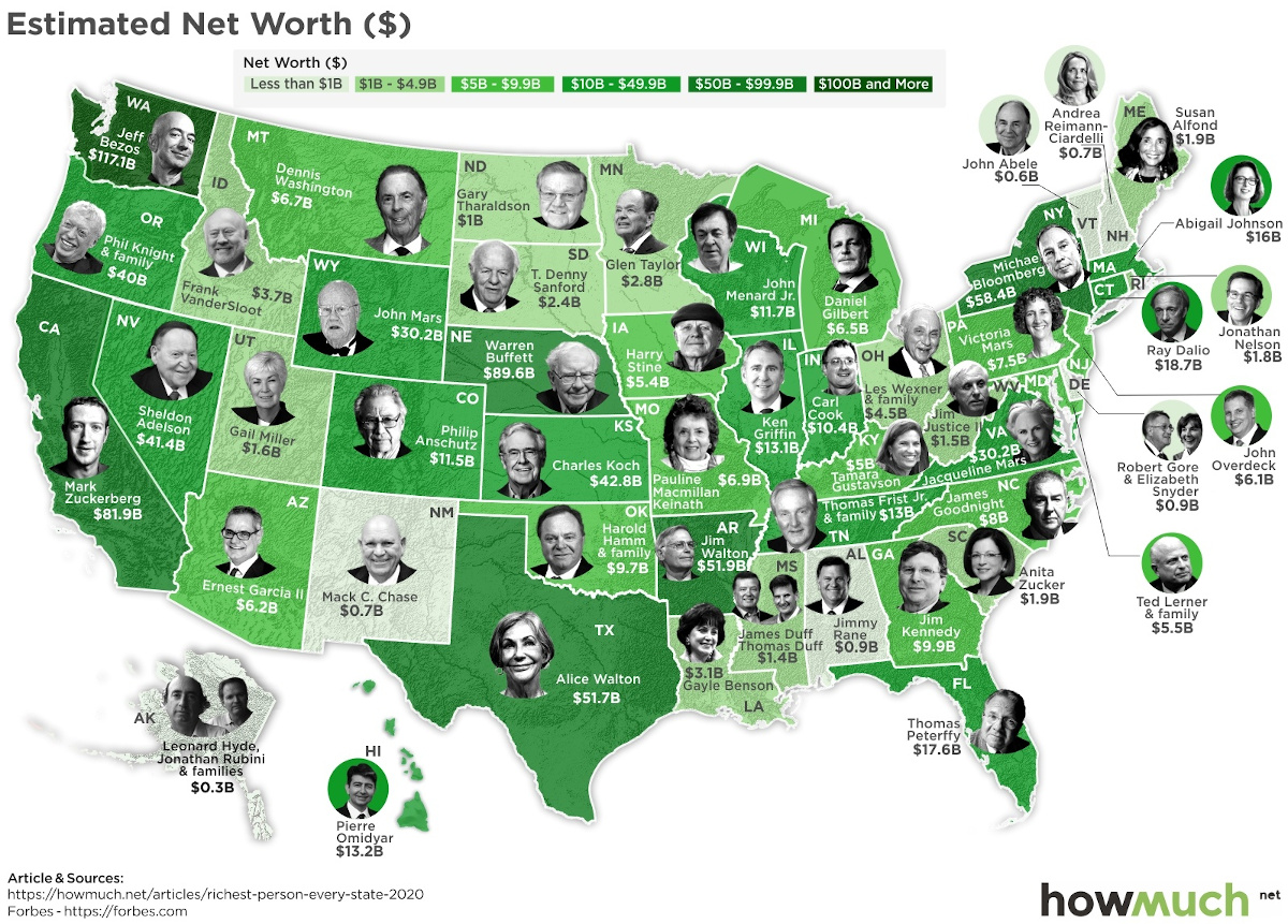 Richest in America by State